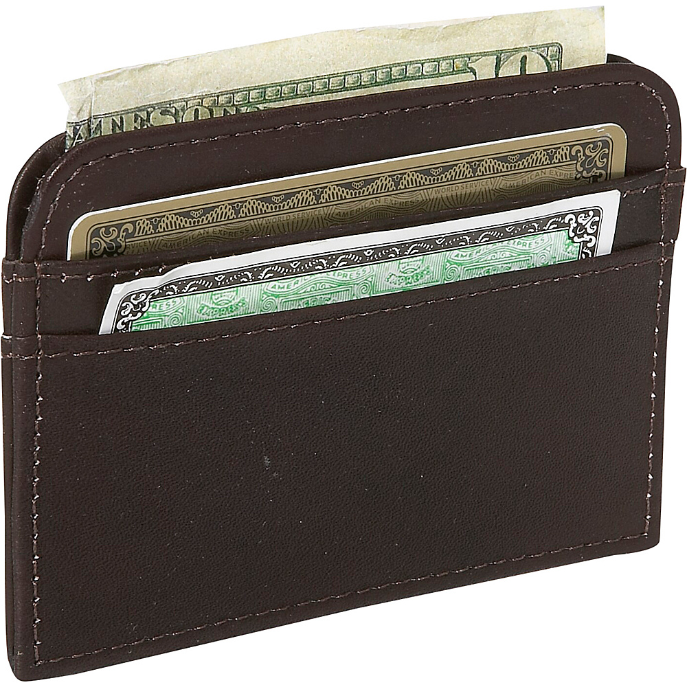 Piel Slim Business Card Case - Chocolate - Work Bags & Briefcases, Business Accessories