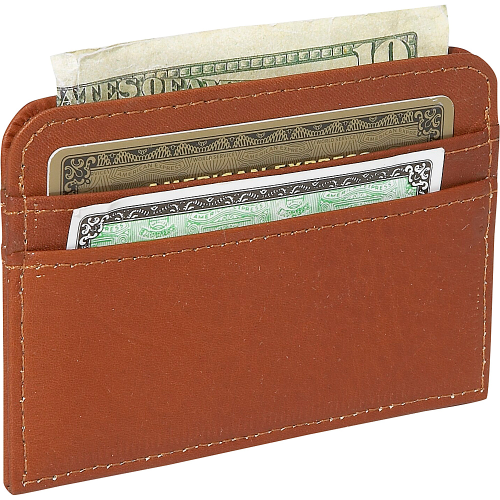 Piel Slim Business Card Case Saddle