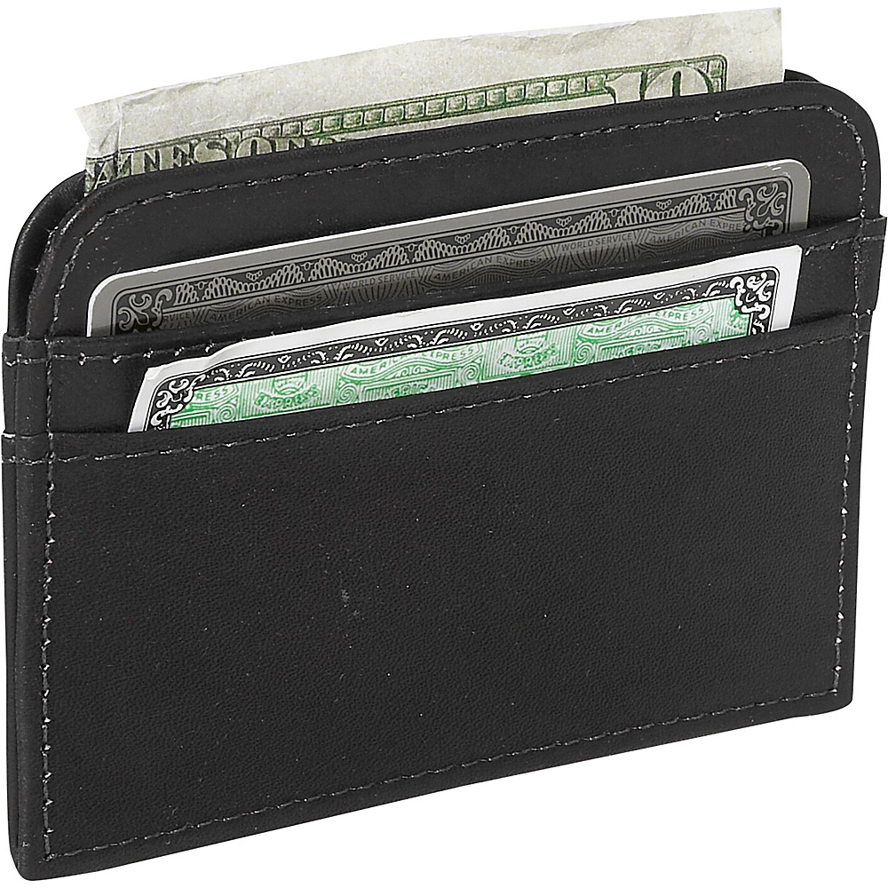 Piel Slim Business Card Case Black