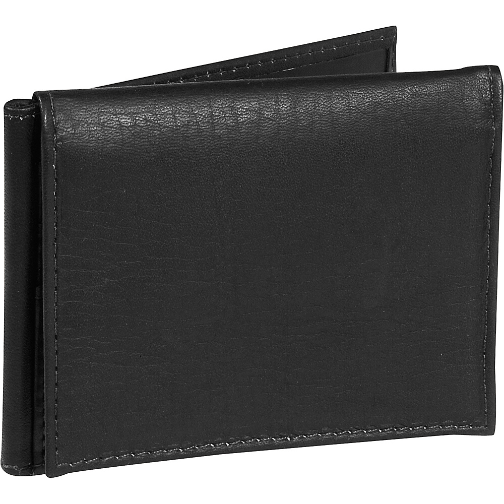 Piel Bi-fold Clip w/ID Window - Black - Work Bags & Briefcases, Men's Wallets