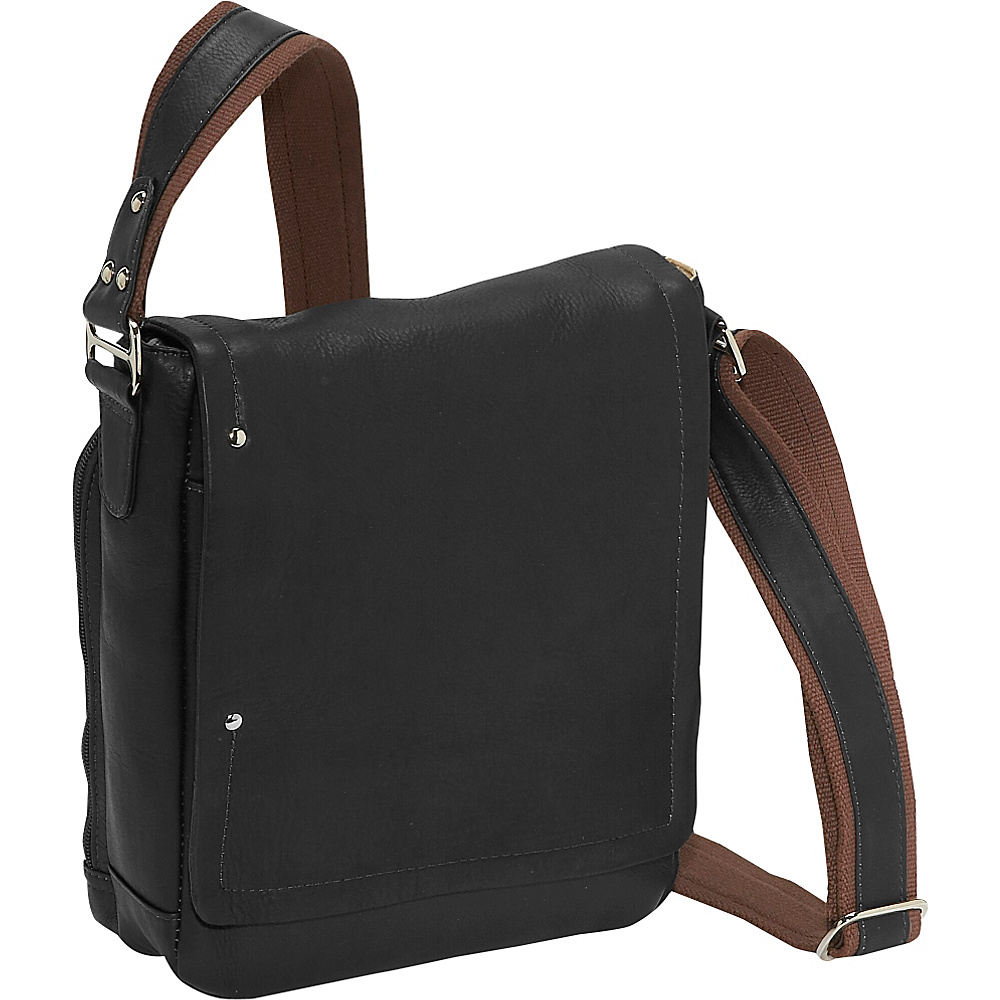 Piel Flap Over Carry All Black