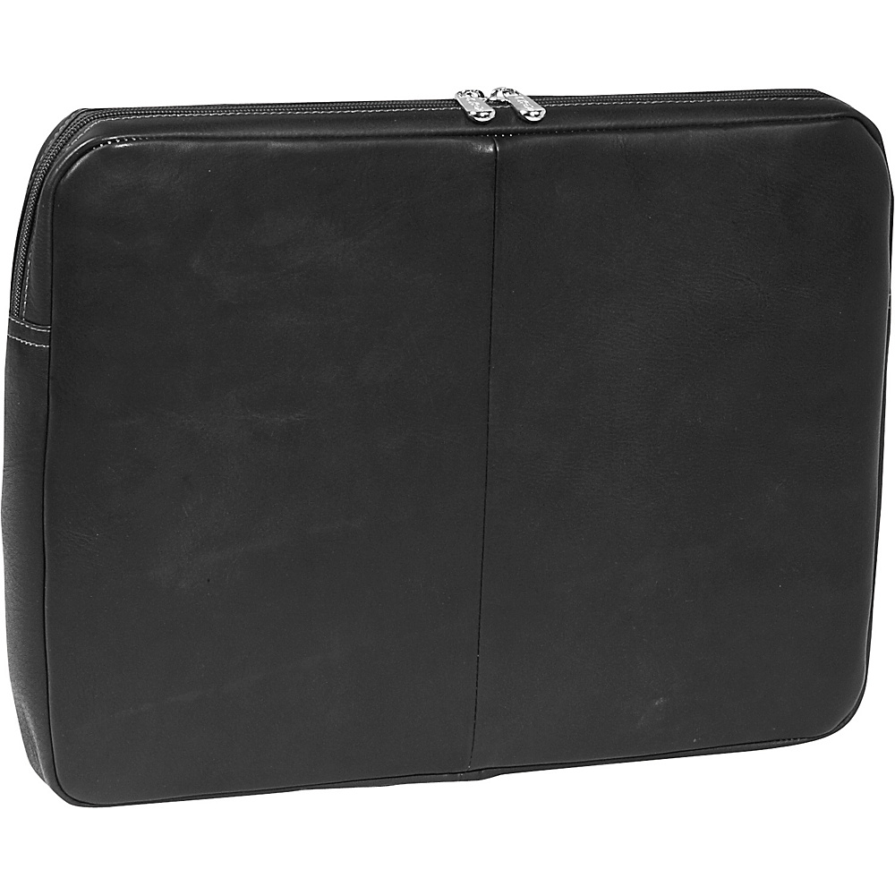 Piel 15 Zip Laptop Sleeve Black