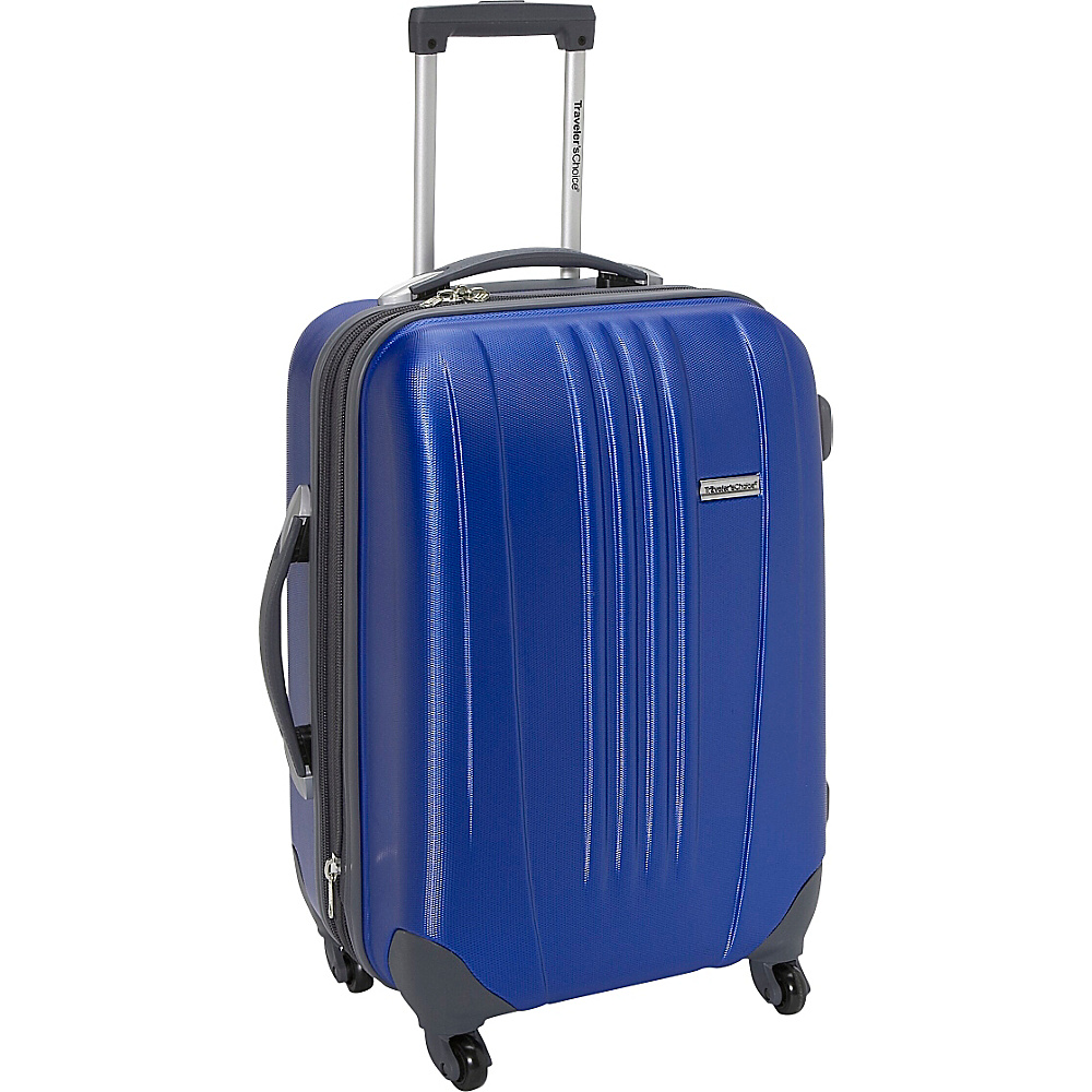 Travelers Choice Toronto 21 in. Expandable Hardside Spinner Luggage Navy - Travelers Choice Hardside Carry-On - Luggage, Hardside Carry-On