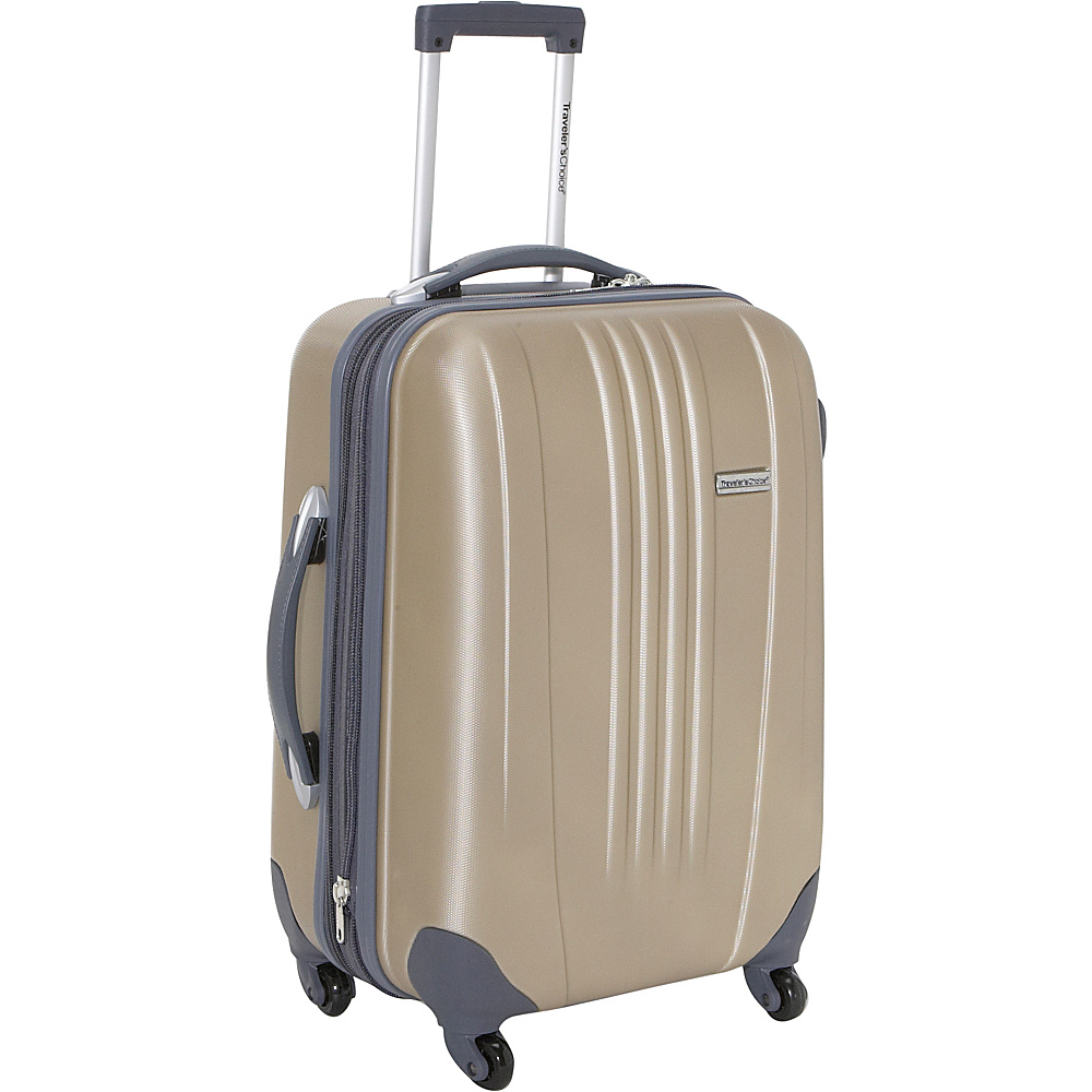 Travelers Choice Toronto 21 in. Expandable Hardside Spinner Luggage Gold - Travelers Choice Hardside Carry-On - Luggage, Hardside Carry-On