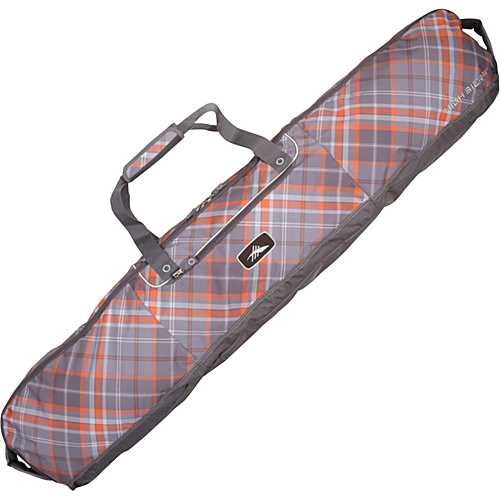 High Sierra Deluxe Snowboard Bag Diamond Plaid, Charcoal - High Sierra Ski and Snowboard Bags