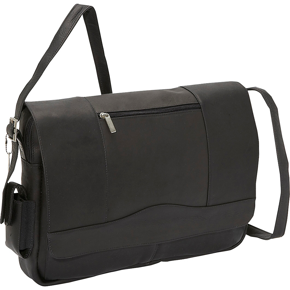 David King Co. 3 4 Flap Laptop Messenger Black