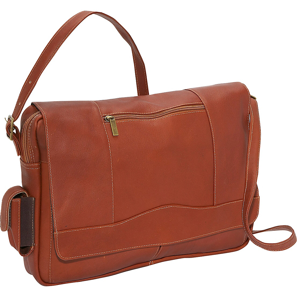 David King Co. 3 4 Flap Laptop Messenger Tan