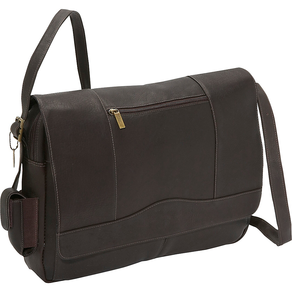 David King Co. 3 4 Flap Laptop Messenger Cafe