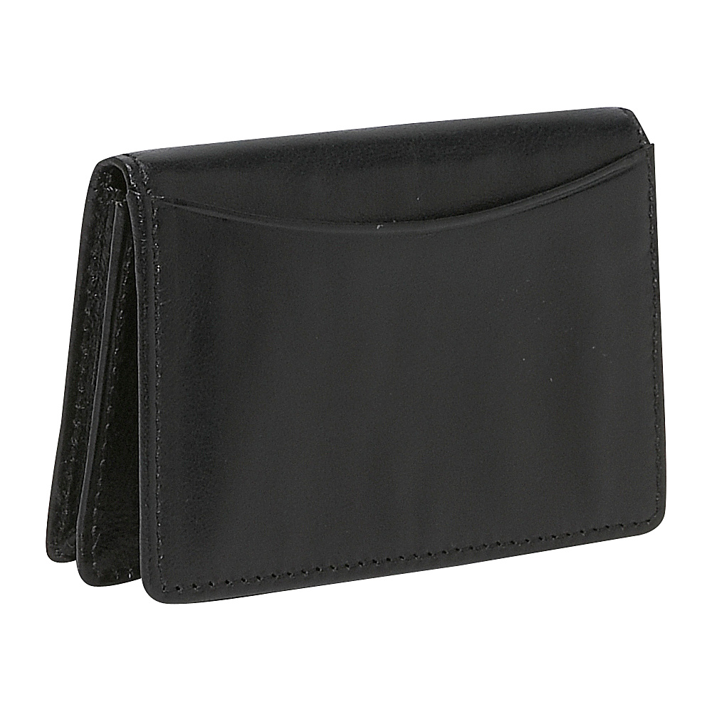Budd Leather Business Card Case - Black - Work Bags & Briefcases, Business Accessories