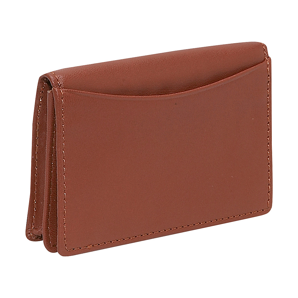 Budd Leather Business Card Case Brown