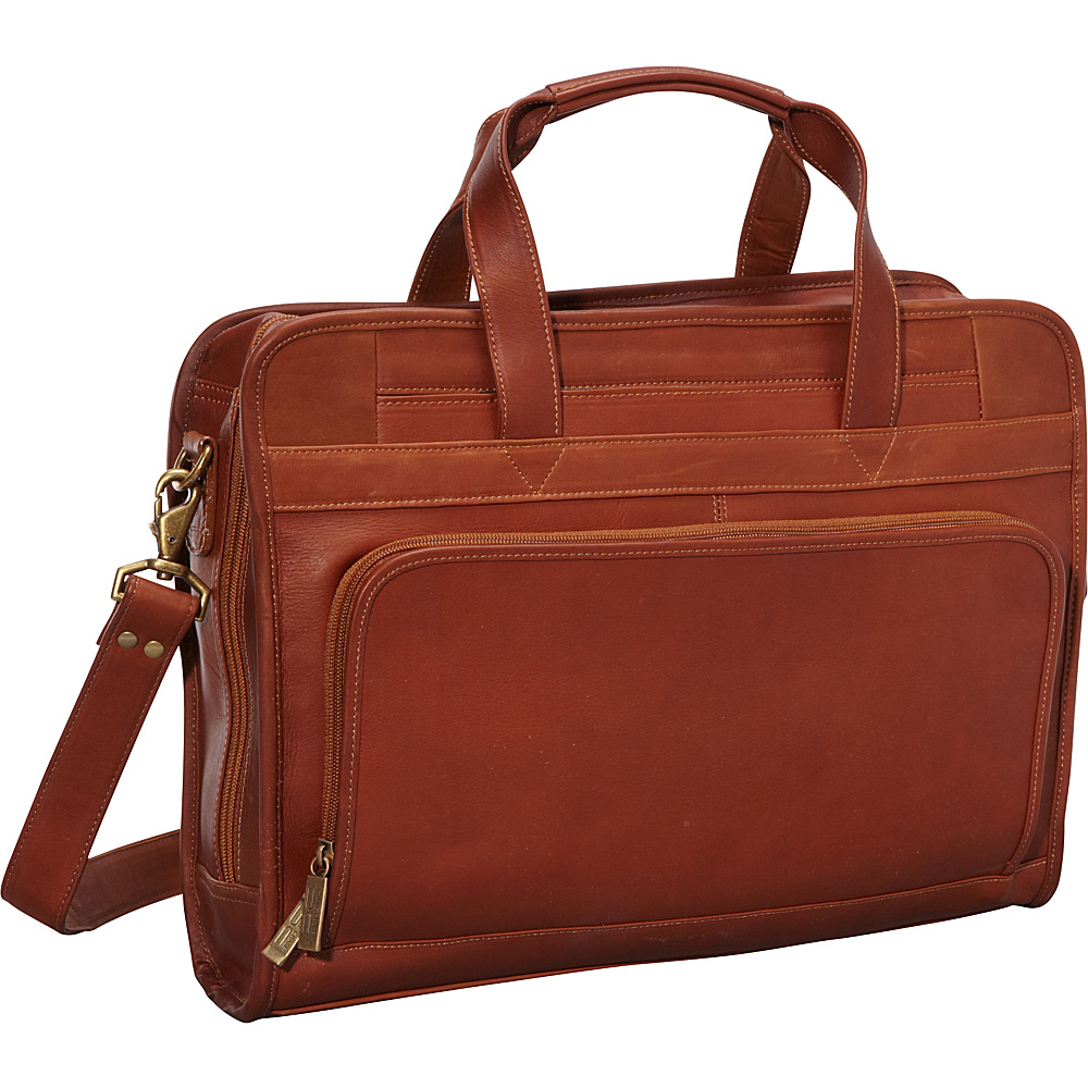 ClaireChase Professional Computer Briefcase - Saddle - Work Bags & Briefcases, Non-Wheeled Business Cases