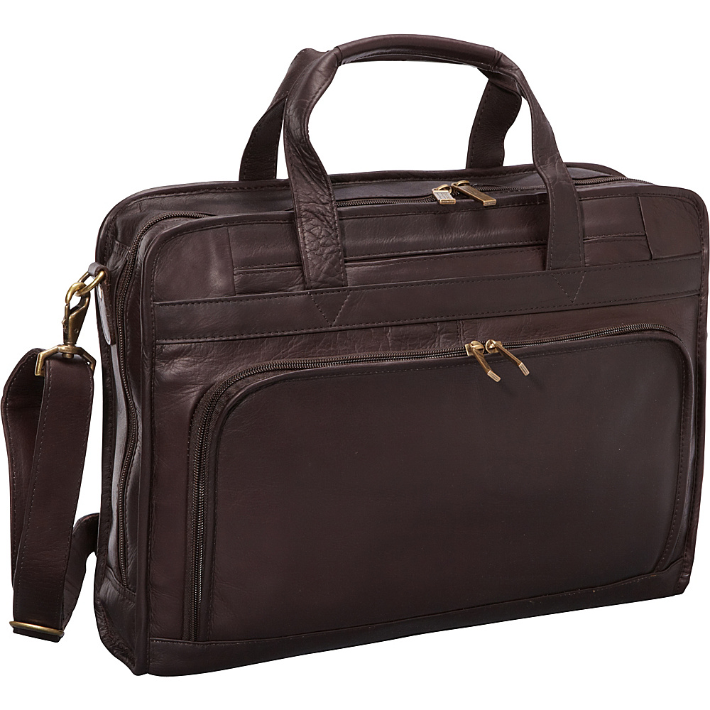 ClaireChase Professional Computer Briefcase - Cafe - Work Bags & Briefcases, Non-Wheeled Business Cases