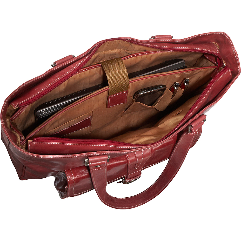 Clark & Mayfield Stafford Vintage Leather Laptop Tote