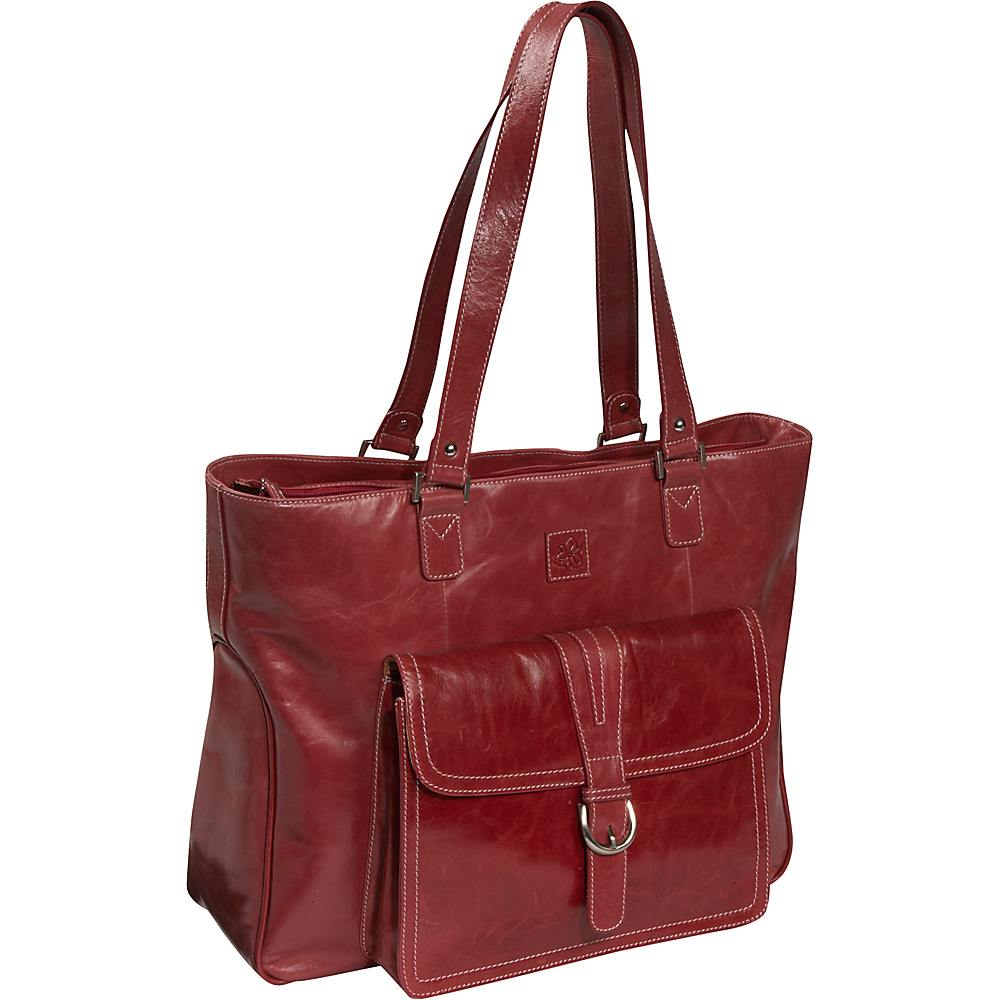 Clark & Mayfield Stafford Vintage Leather Laptop Tote - Work Bags & Briefcases, Women's Business Bags