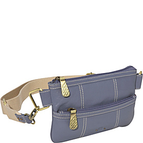 On The Go Belt Bag 2 Zip Front Pocket Denim