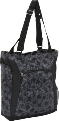 Everest Deluxe Utility Laptop Tote Gray/Black - Everest Women's Business Bags