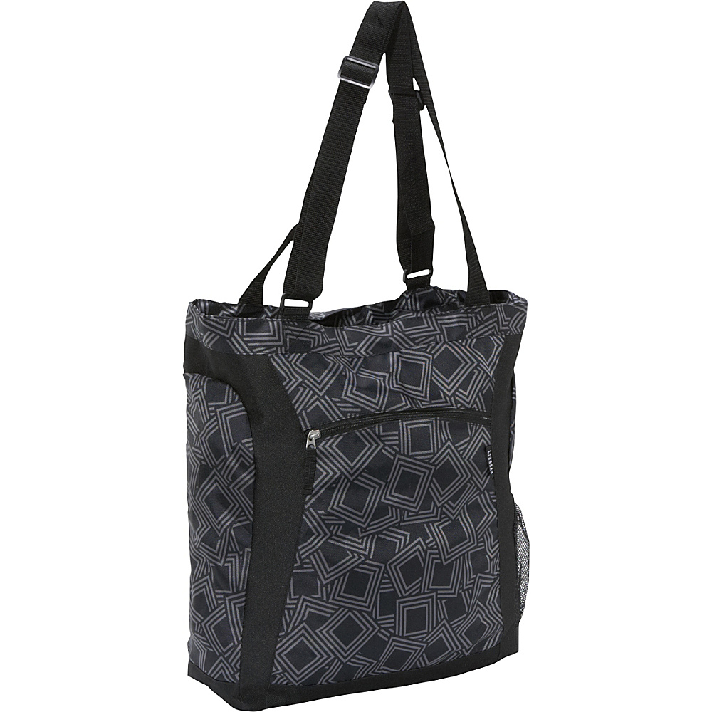 Everest Deluxe Utility Laptop Tote Gray/Black - Everest Ladies' Business