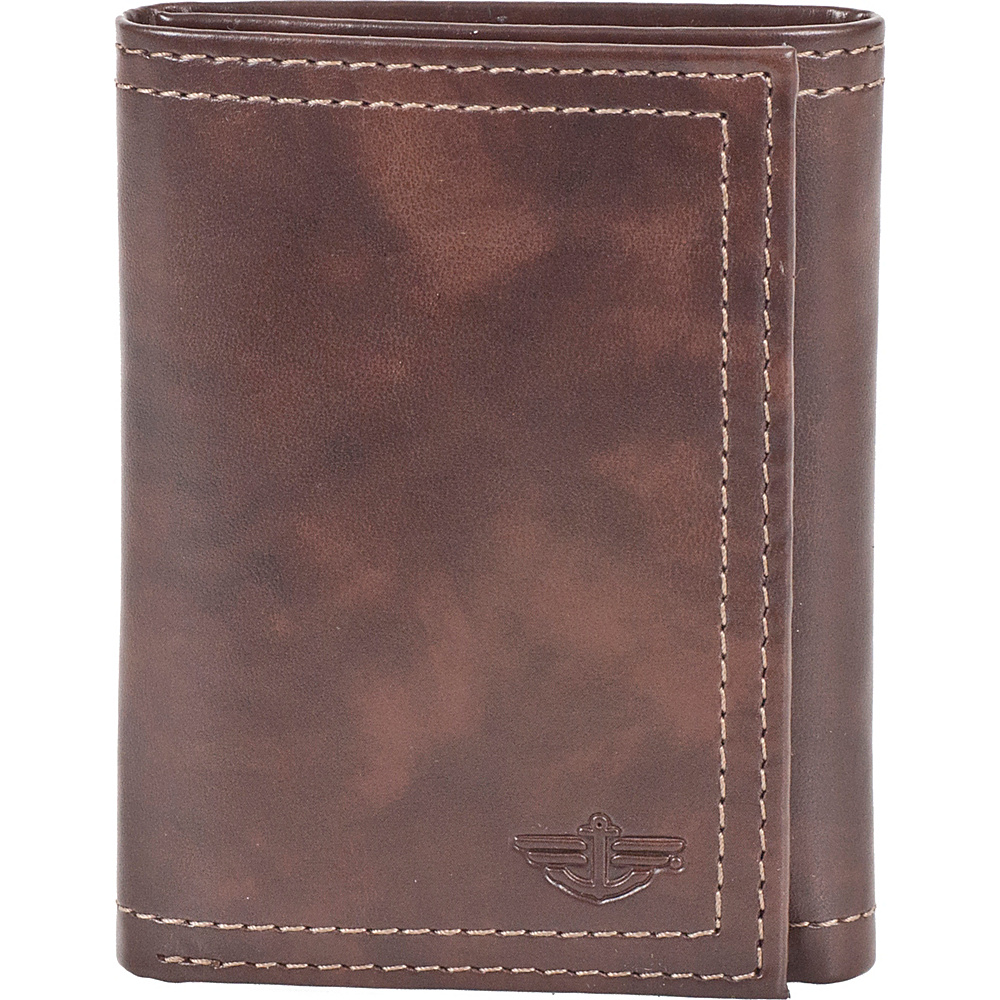 Dockers Wallets Trifold Wallet - Brown - Work Bags & Briefcases, Men's Wallets