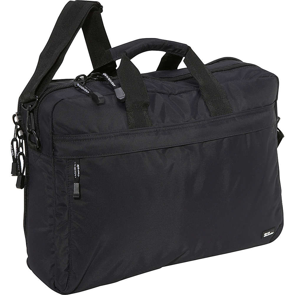 Derek Alexander Fully Equipped Computer Brief Black - Derek Alexander Non-Wheeled Business Cases - Work Bags & Briefcases, Non-Wheeled Business Cases