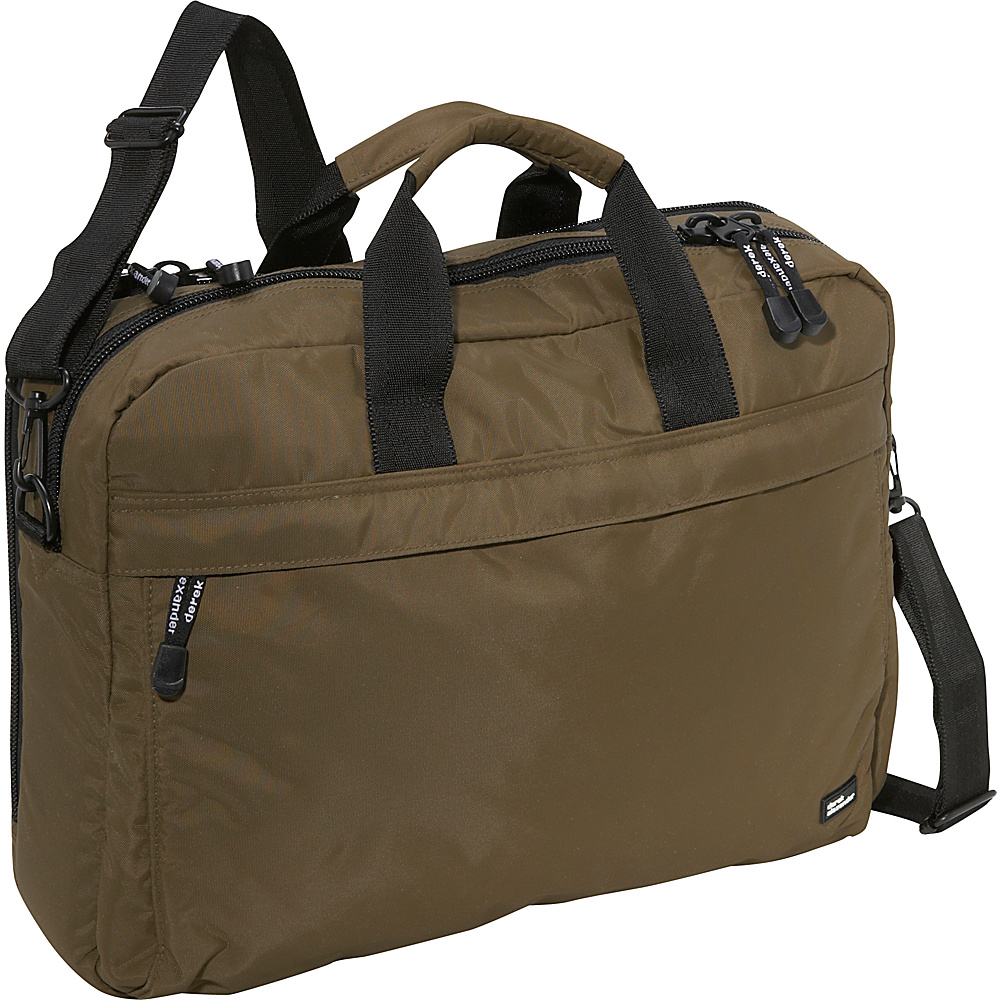 Derek Alexander Fully Equipped Computer Brief - Olive - Work Bags & Briefcases, Non-Wheeled Business Cases