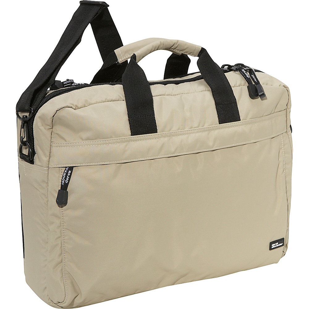 Derek Alexander Fully Equipped Computer Brief - Tan - Work Bags & Briefcases, Non-Wheeled Business Cases