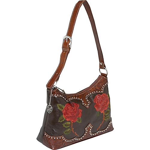 American West Roses are Red Shoulder bag - Chocolate