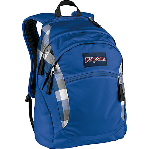 JanSport Wasabi - Blue Streak Block Check - Backpacks, Laptop Backpacks