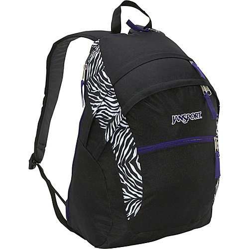 JanSport Wasabi Backpack Black/White Cosmo Zebra - Backpacks, Laptop Backpacks