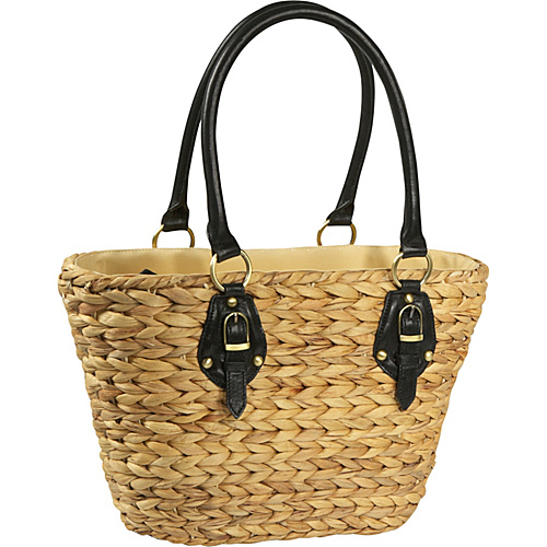 Straw Studios Isabel Black - Straw Studios Straw Handbags