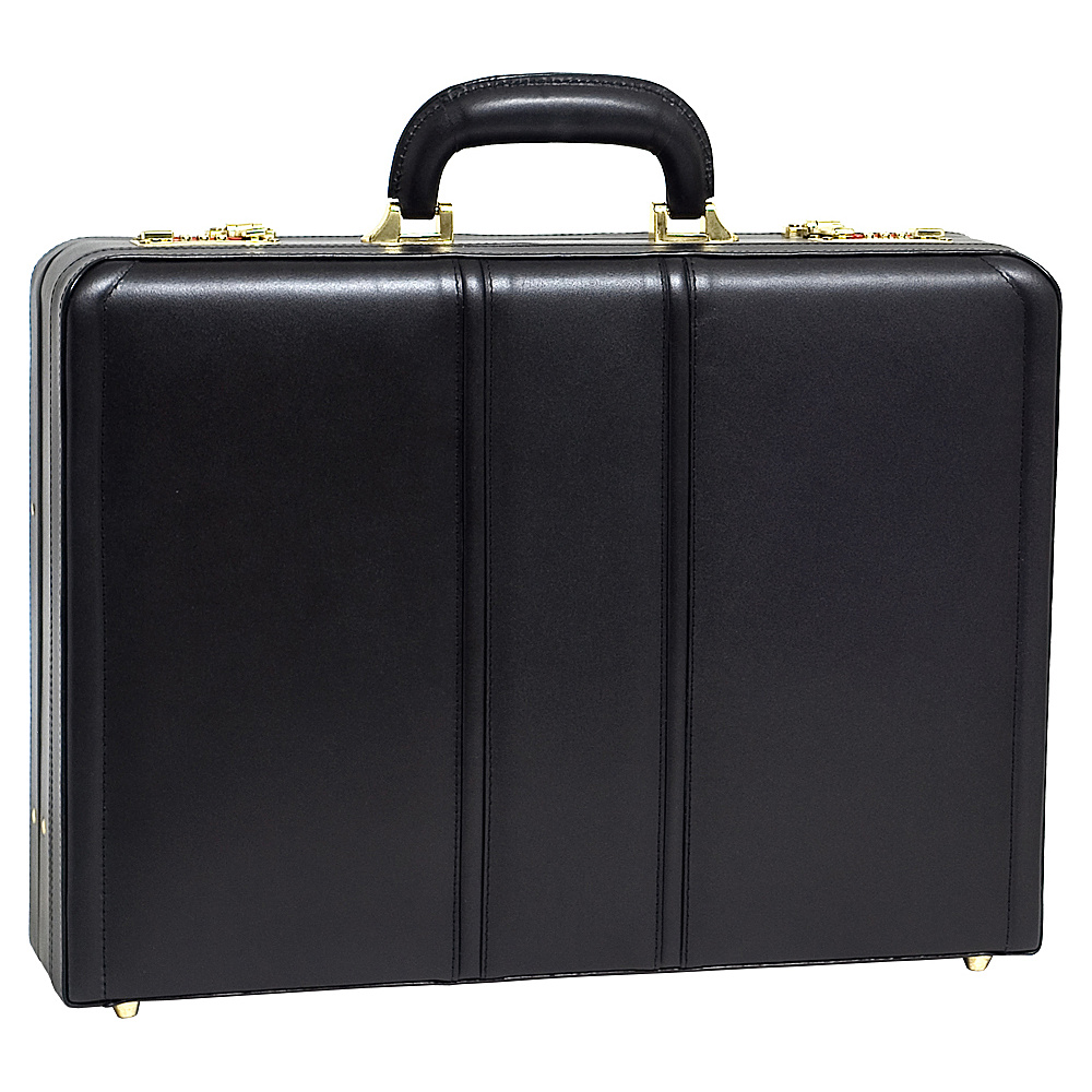 McKlein USA Coughlin Leather Expandable Attache Case - - Work Bags & Briefcases, Non-Wheeled Business Cases