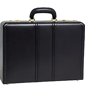 Coughlin Leather Expandable Attache Case Black