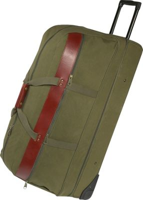 Boyt Harness 36 inch Covey Bag Rolling Duffel - Extra Large OD GREEN - Boyt Harness Softside Checked