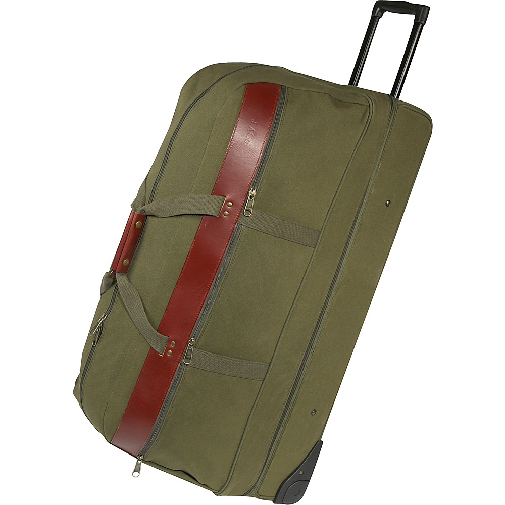 "Boyt Harness 36"" Covey Bag Rolling Duffel - Extra Large OD GREEN - Boyt Harness Softside Checked"