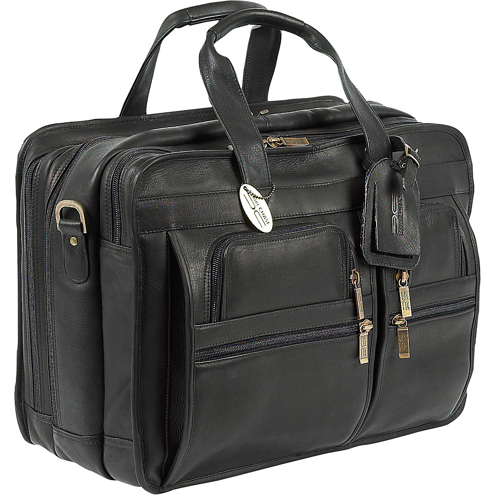 ClaireChase Jumbo Executive Laptop Briefcase - Black - Work Bags & Briefcases, Non-Wheeled Business Cases