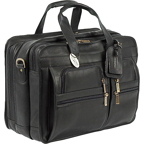 ClaireChase Jumbo Executive Laptop Briefcase - Black