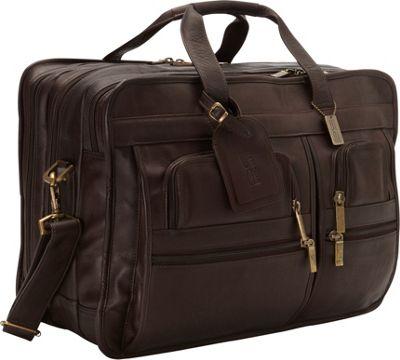 ClaireChase Jumbo Executive Laptop Briefcase Cafe - ClaireChase Non-Wheeled Business Cases