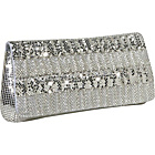 Buy Whiting and Davis Contrasting Ruffles Clutch by Whiting and Davis