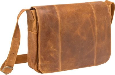 Le Donne Leather Distressed Leather Laptop Messenger Tan - Le Donne Leather Messenger Bags