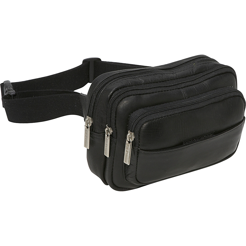 Le Donne Leather Four Compartment Waist Bag - Black - Backpacks, Waist Packs