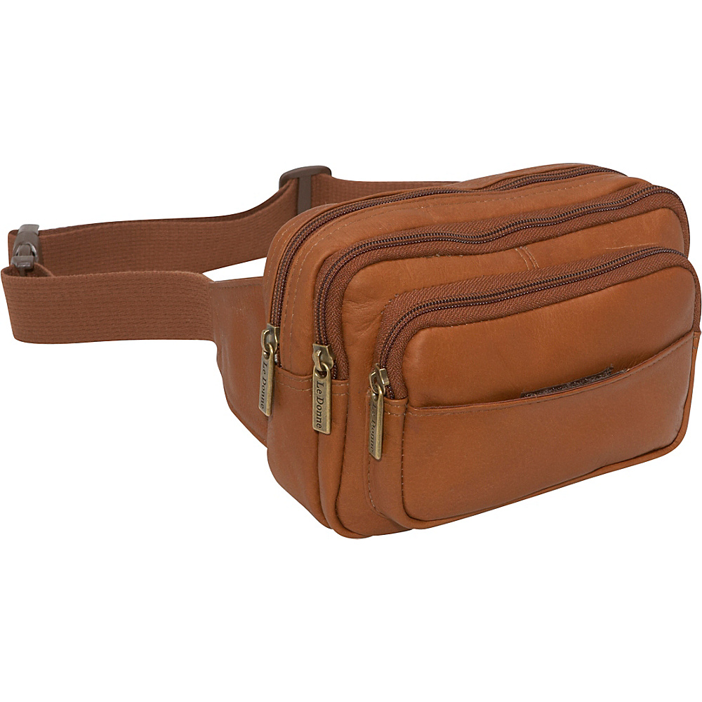 Le Donne Leather Four Compartment Waist Bag - Tan - Backpacks, Waist Packs