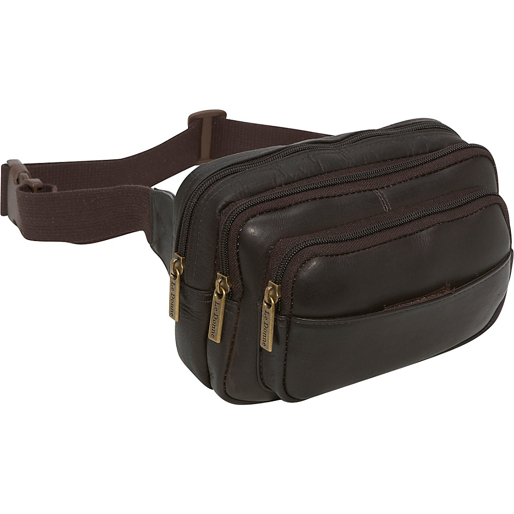 Le Donne Leather Four Compartment Waist Bag - Caf - Backpacks, Waist Packs