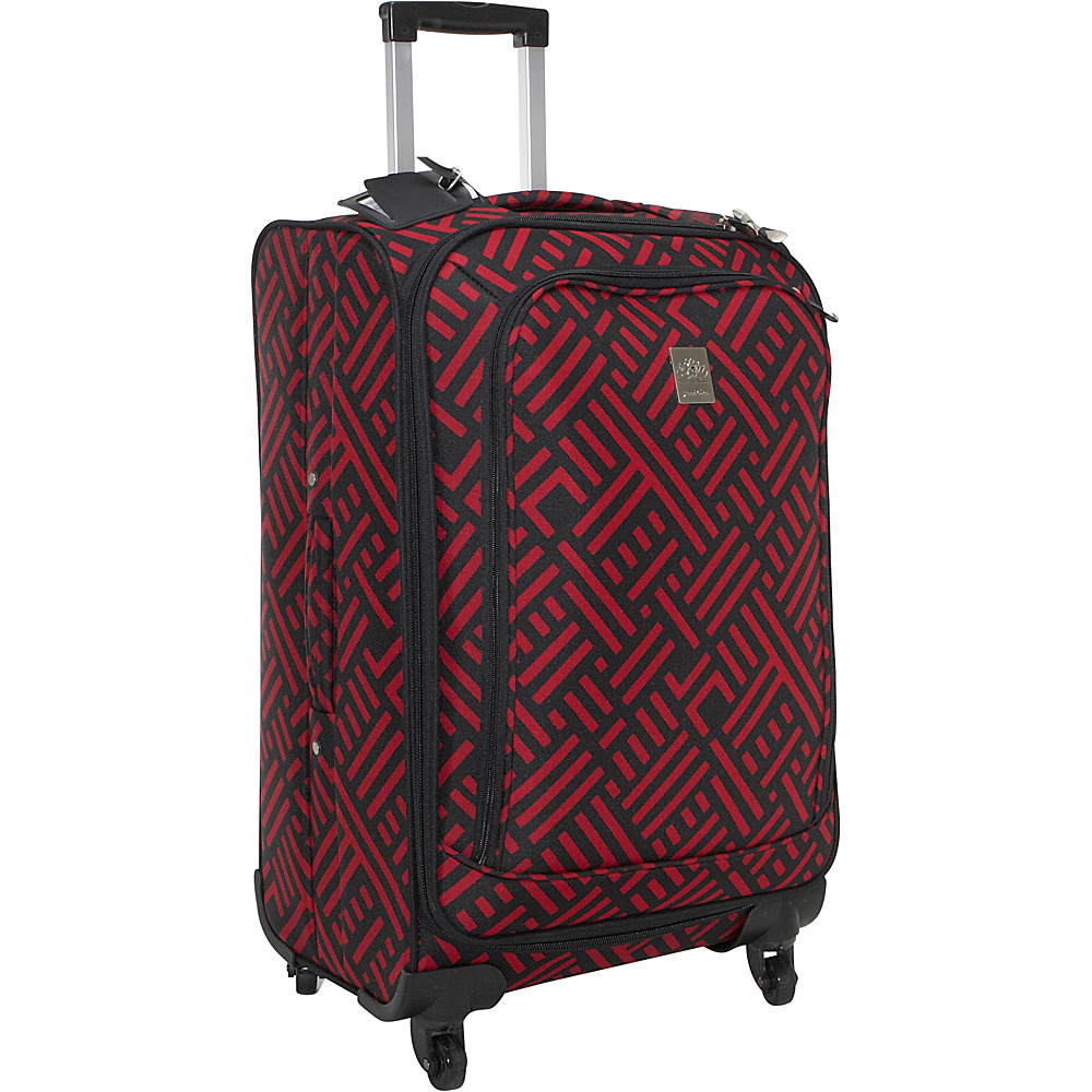 Jenni Chan Signature 24 Spinner - Black and Red - Luggage, Softside Checked