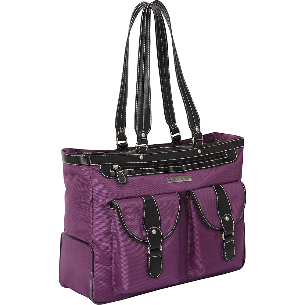Clark Mayfield Marquam Laptop Handbag 18.4 Purple Clark Mayfield Women s Business Bags