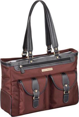 Clark & Mayfield Marquam Laptop Handbag 18.4 inch Bordeaux Brown - Clark & Mayfield Women's Business Bags