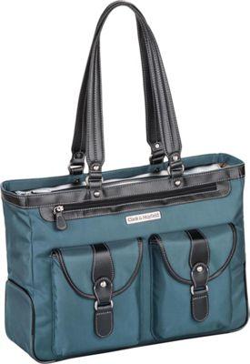 Clark & Mayfield Marquam Laptop Handbag 18.4 inch Deep Teal - Clark & Mayfield Women's Business Bags