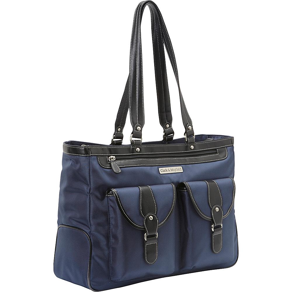 """Clark & Mayfield Marquam Laptop Handbag 18.4"""" Navy Blue - Clark & Mayfield Women's Business Bags"""