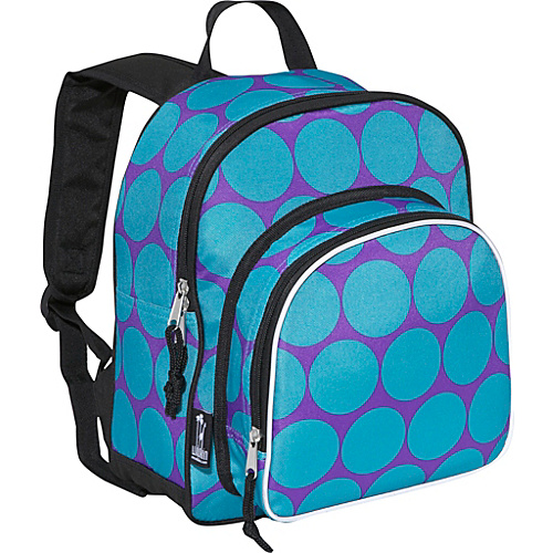 Wildkin Big Dots Aqua Pack 'n Snack Backpack - Big Dots