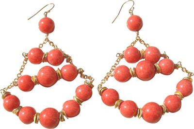 MINU Jewels Coral Chandelier Earrings