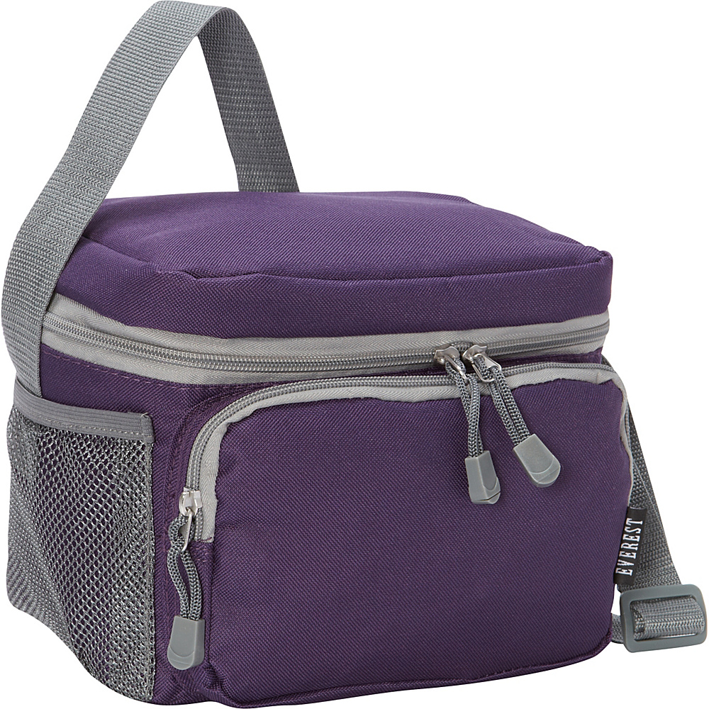 Everest Cooler Lunch Bag Eggplant Grey Everest Travel Coolers