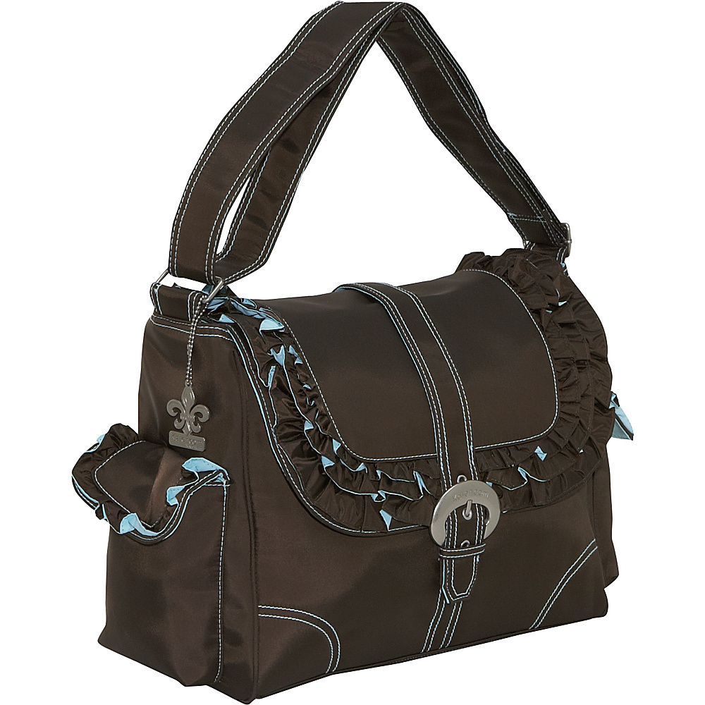 Kalencom Miss Prissy Buckle Bag - Chocolate/Blue - Handbags, Diaper Bags & Accessories
